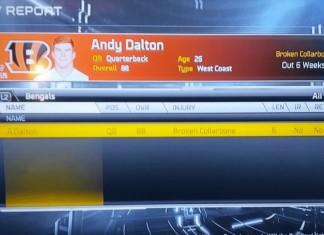 Andy Dalton Injured