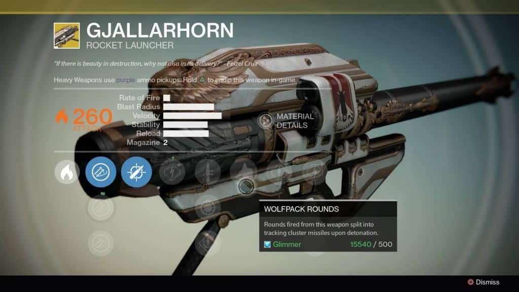 destiny exotic gallarhorn