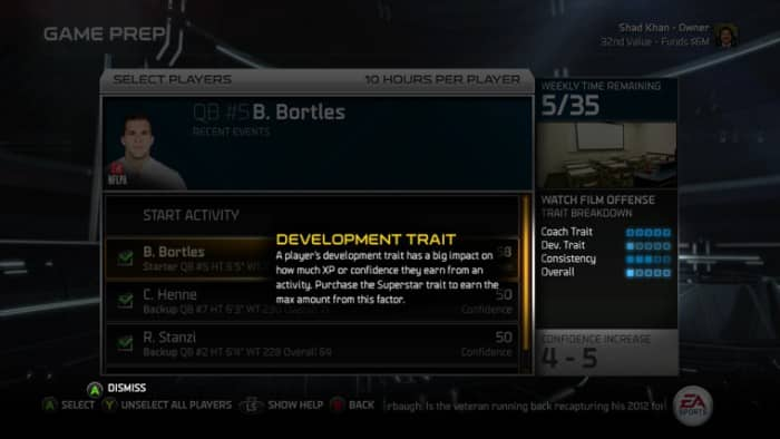 Madden15_Progress_Players_CFM_Tips_development_trait