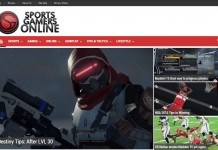 Sports Gamers Online Redesign