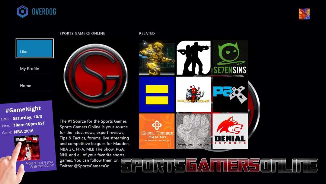 Overdog Sports Gamers Online