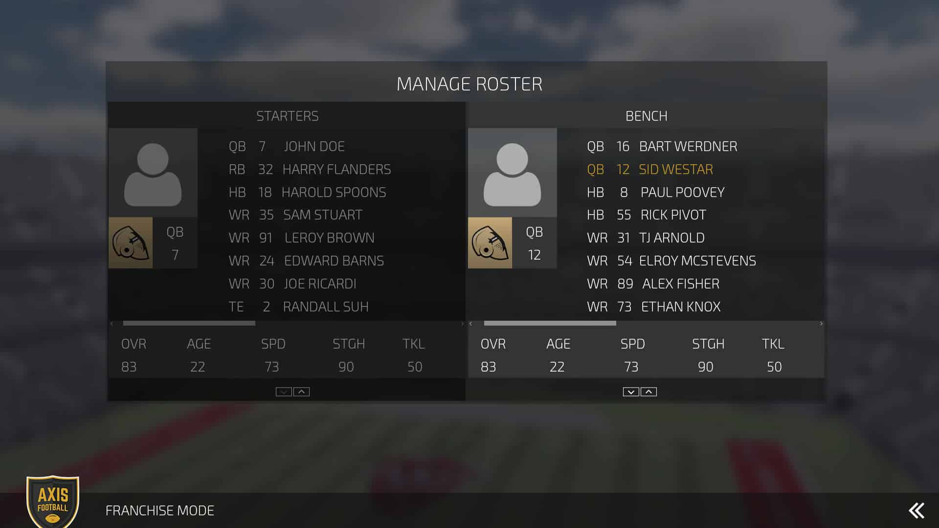 selectbench_franchise_ManageRoster_AxisFootball_UI_1920x1080