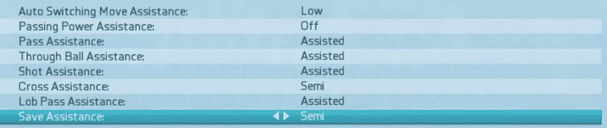 fifa16 settings