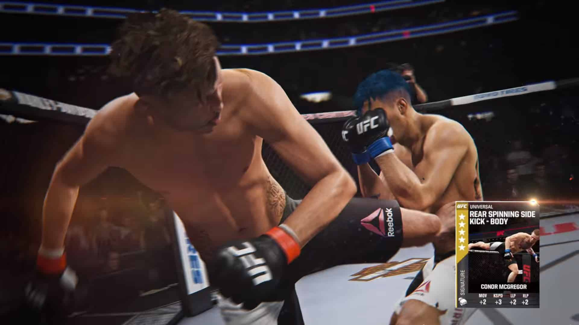 ufc 2 ultimate team moves spin kick