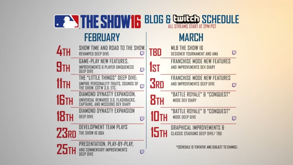 mlb the show 16 schedule