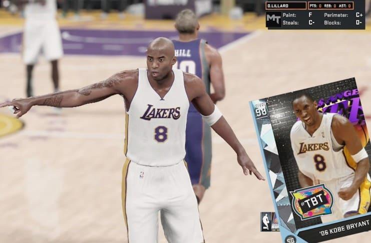NBA 2K16 MyTeam Diamond Kobe Bryant Review