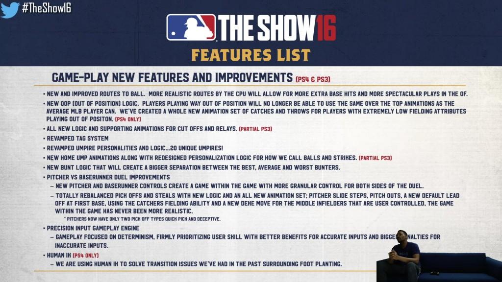 show features list
