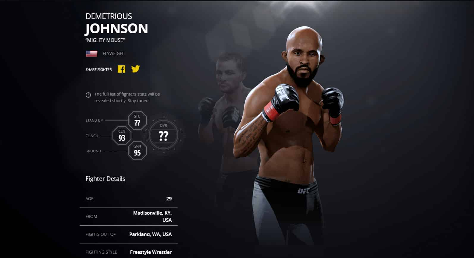 Ea Sports Ufc 2 Ground Fighter Ratings Gamers Online Sony Ps4