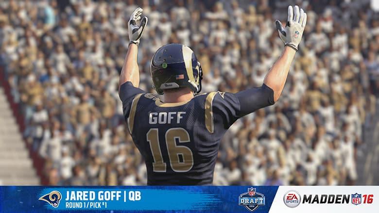 Jared Goff, LA Rams, Madden 16