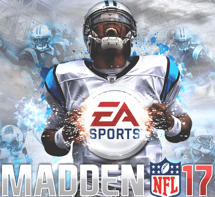 madden 17 cover athlete cam newtn
