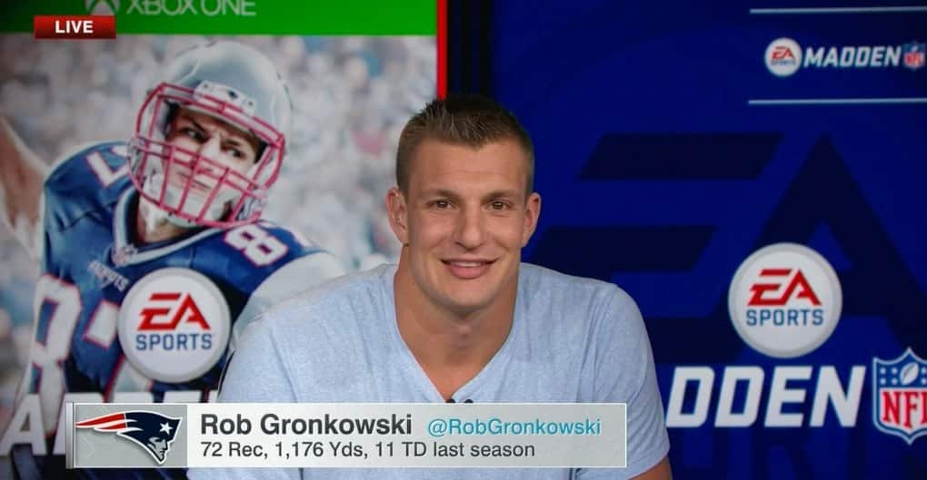 madden 17 cover athlete rob gronkowski