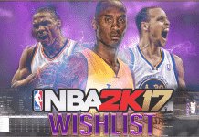 NBA 2K17 Wishlist