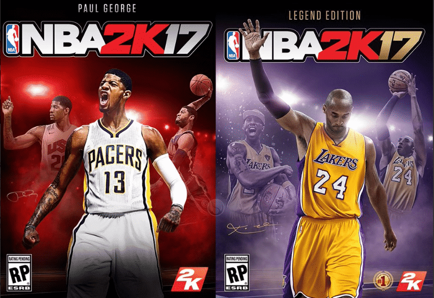 Paul George and Kobe Bryant New NBA 2K17 Cover Athletes - Sports Gamers Online