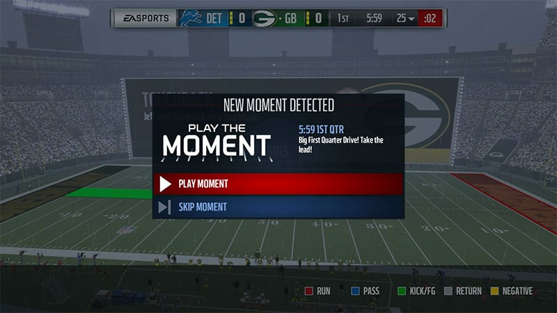 Madden 17 Play The Moment