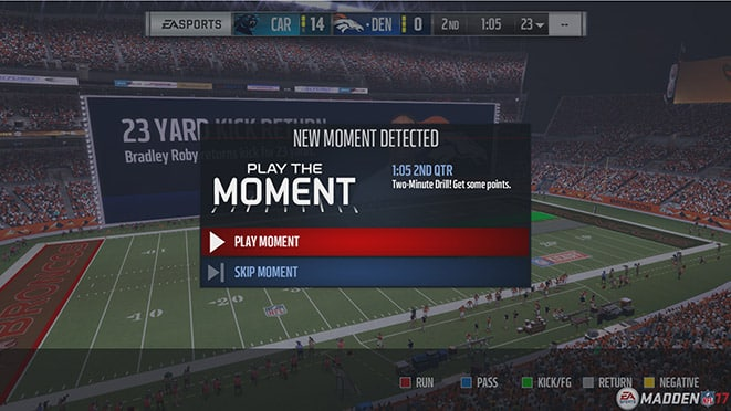 Madden 17 Play The Moments