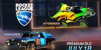 rocket league aftershock marauder dlc