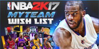 NBA 2K17 MyTeam Wishlist
