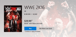 WWE 2K16 free with Xbox Live Gold