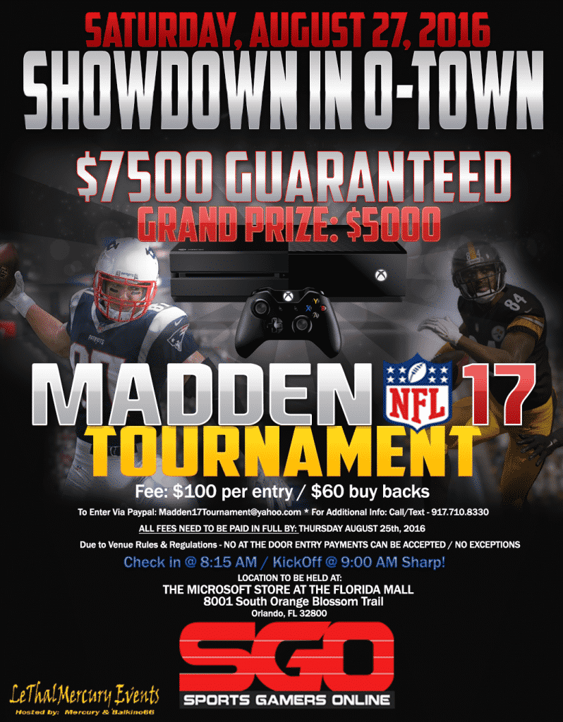 MADDEN 17 ESPORTS SHOWDOWN IN OTOWN