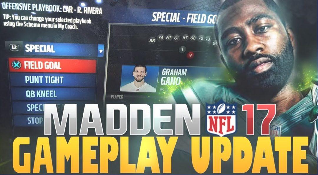 madden 17 gameplay update