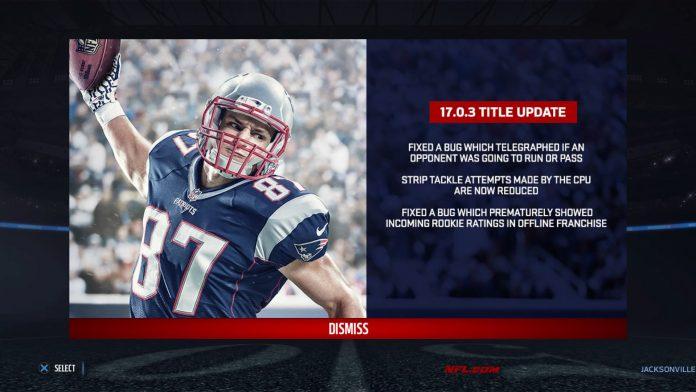 Madden NFL 17 Title Update 1