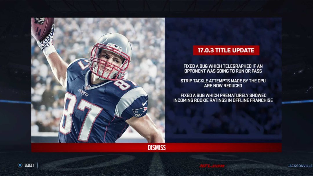 Madden NFL 17 Title Update #1 - Patch Notes