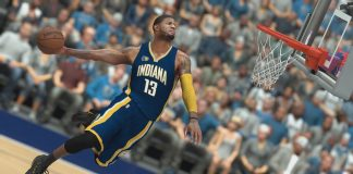 nba 2k17 paul george dunking