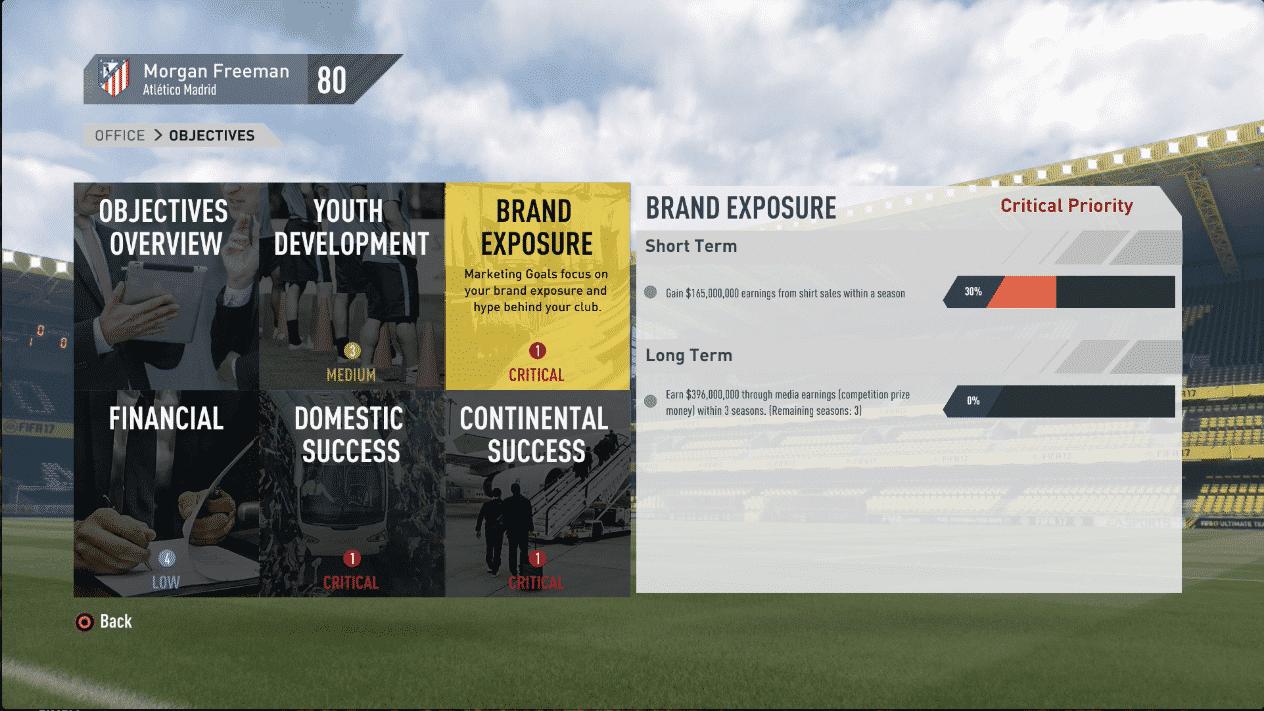 FIFA 17 career