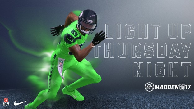 ba7dcd83c72 EA Sports announced on Nike Color Rush uniforms are now available in Madden  NFL 17. These phosphorescent uniforms were a big hit last year in the NFL  so now ...