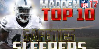 Madden NFL 17 Sleeper Safeties
