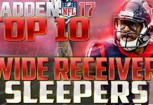 MADDEN 17 WR SLEEPERS
