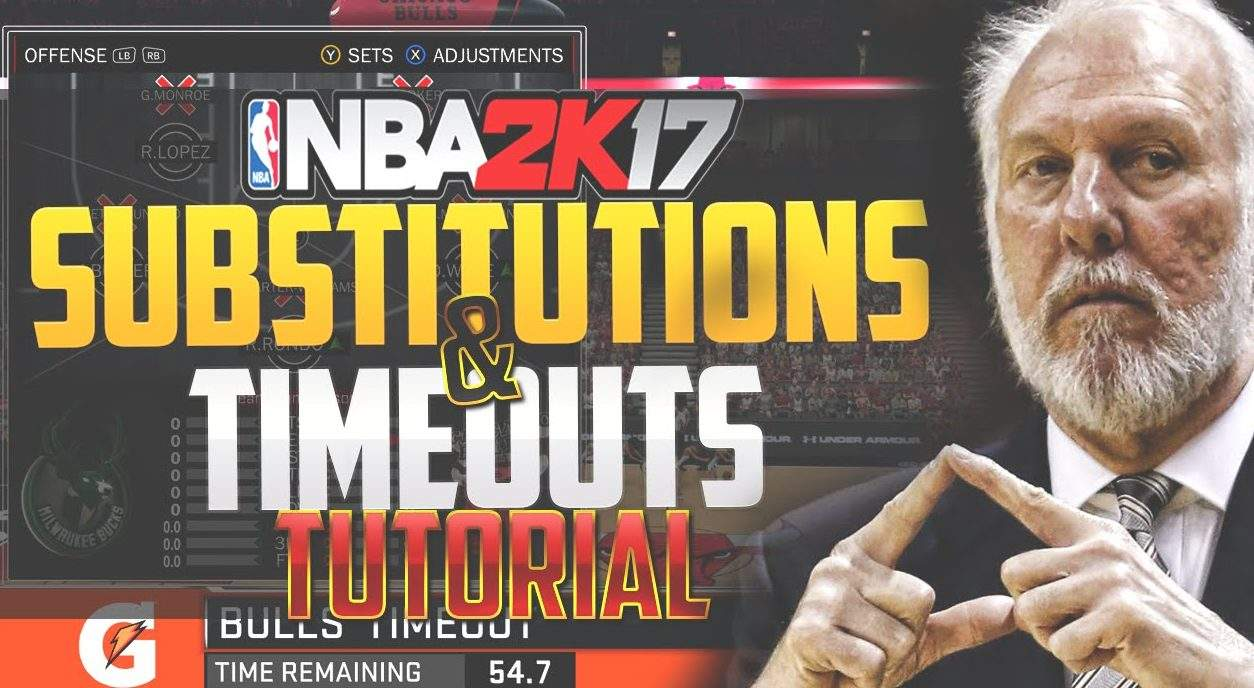 NBA 2K17 Tips: Substitution & Time Out Tutorial - Sports