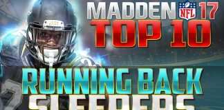 Madden NFL 17 Top 10 Sleeper Running Backs