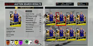 NBA 2K17 MyTeam Tips Prizingis NBA 2K17