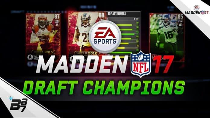 Madden NFL 17 Draft Champions Update