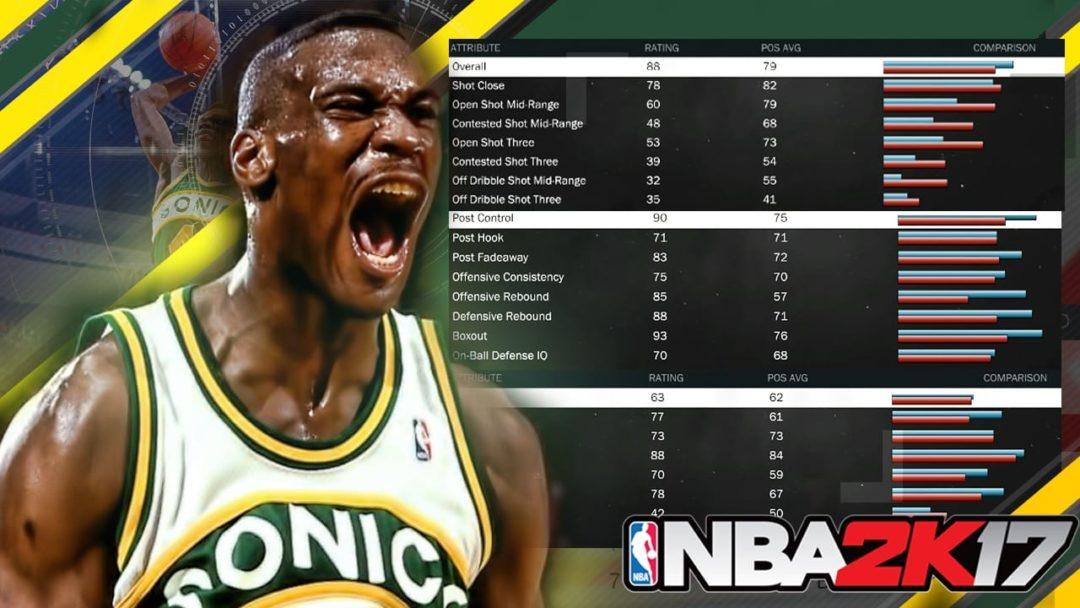 NBA 2K17 Ratings Worst Power Forwards Shawn Kemp