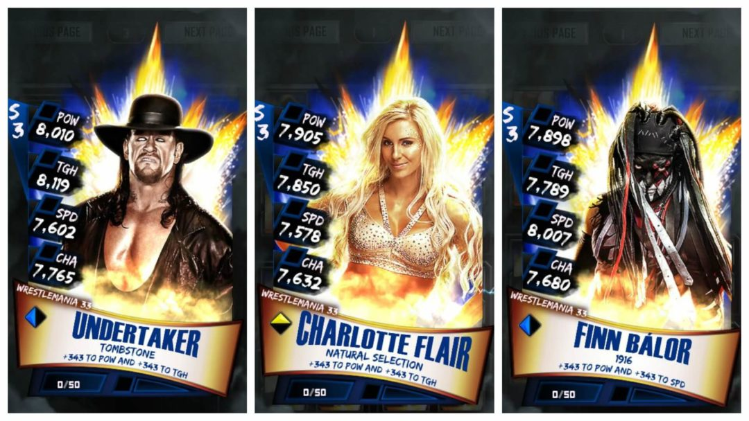 WWE SuperCard Season 3 Update 2.5