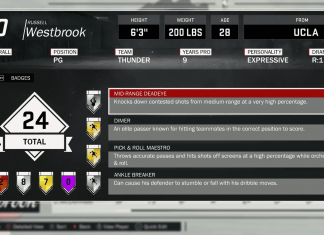 NBA 2K17 Official Badges Guide Westbrook