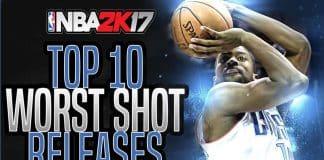 nba 2k17 shot releases worst