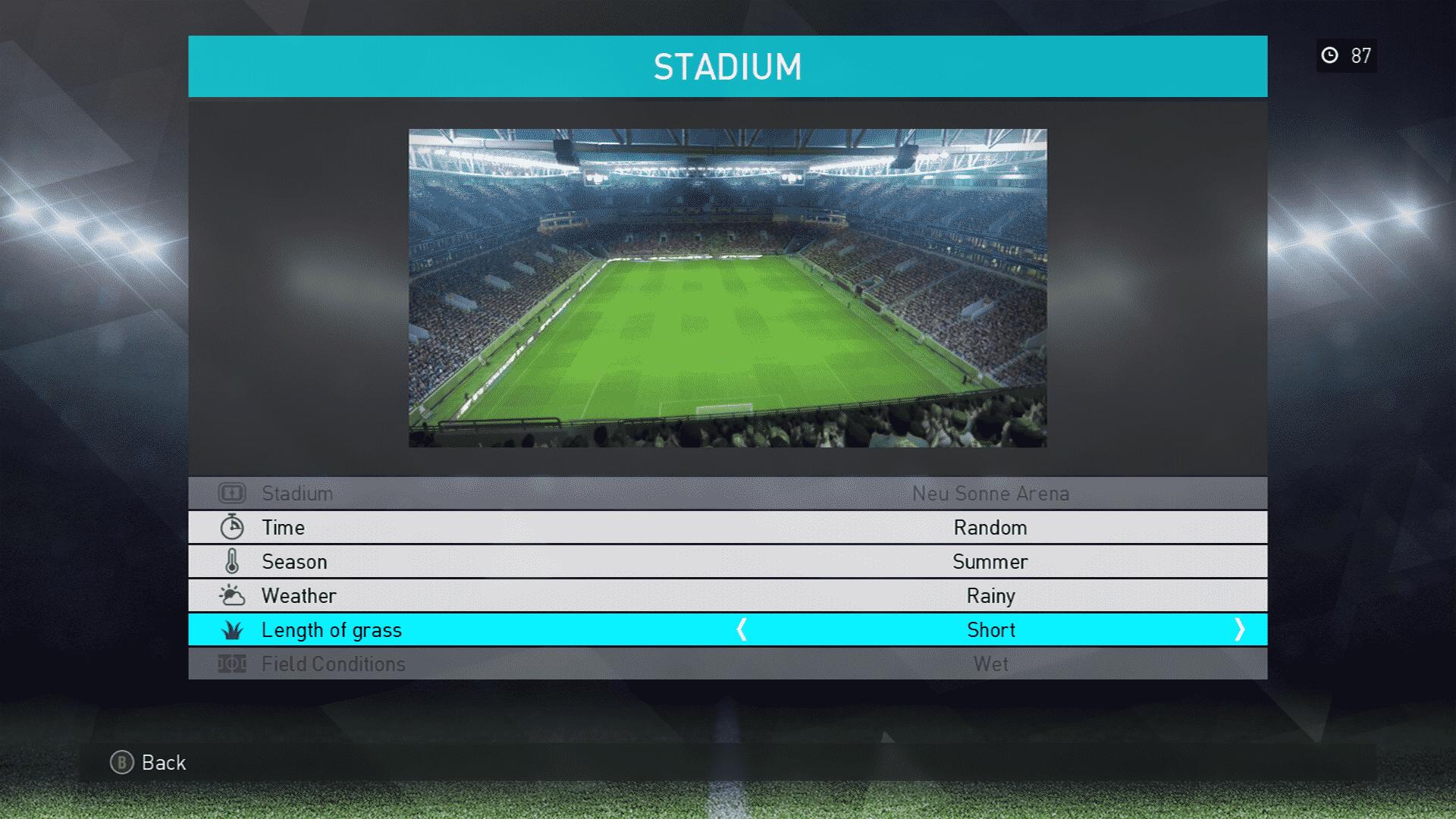 PES 2018 Stadium Selection