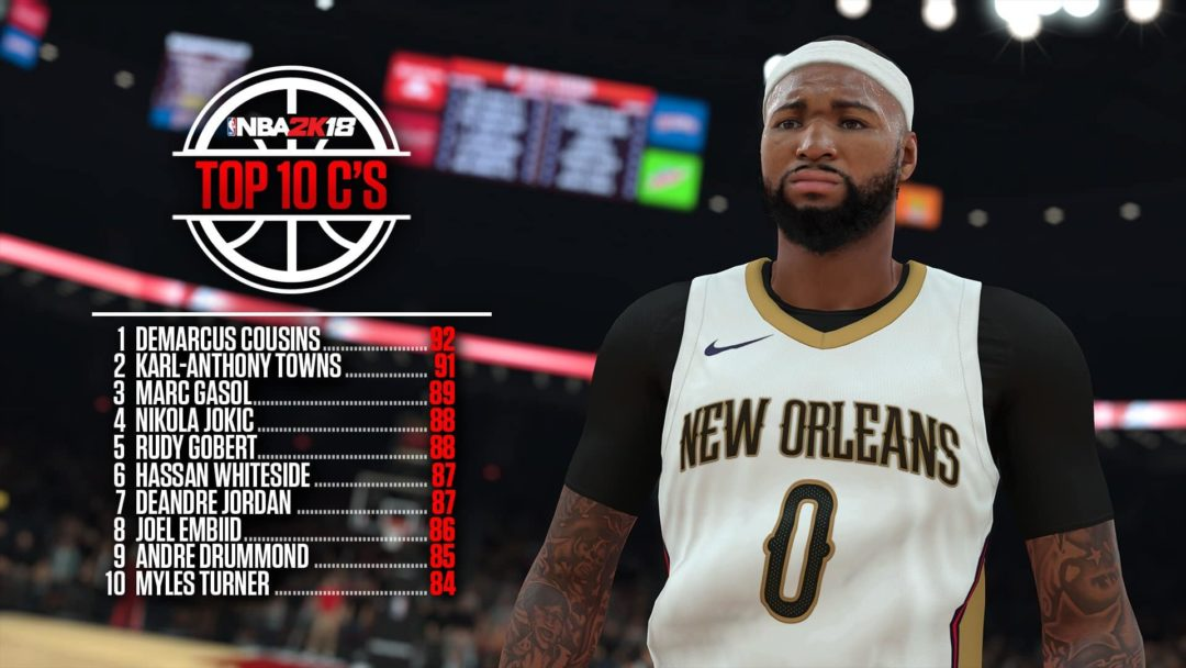 NBA 2K18 Ratings - Top 10 Centers - Sports Gamers Online