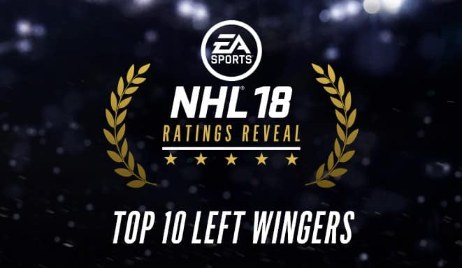 NHL 18 Ratings - Top 10 Left Wings