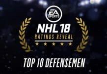 NHL 18 Top10 Defensemen