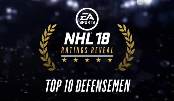 NHL 18 Top10 Defensemen