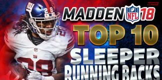 Madden 18 Top 10 Sleeper RBs