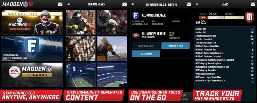 Madden 18 Companion App Now Available for iOS and Android