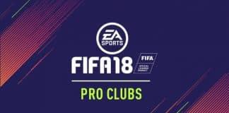FIFA 18 Pro Clubs