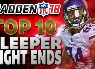 Madden 18Top 10 Sleeper Tight Ends