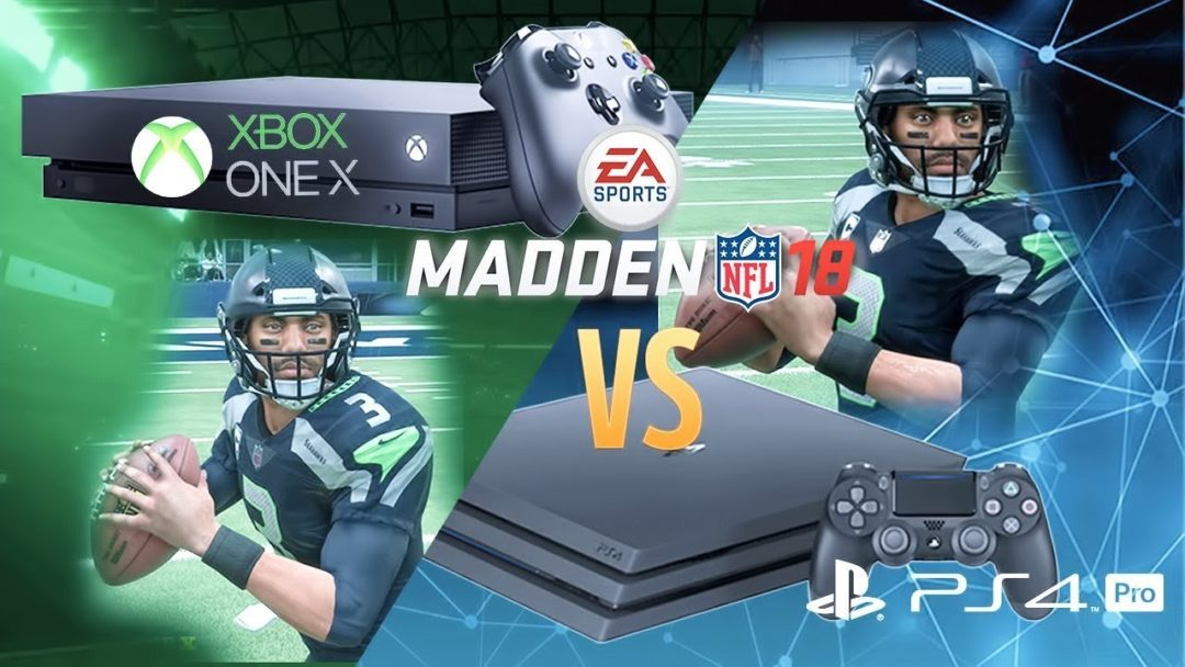 2babac7a45f Comparing Madden 18 s Graphics On XBox One X vs PlayStation 4 Pro - Sports  Gamers Online