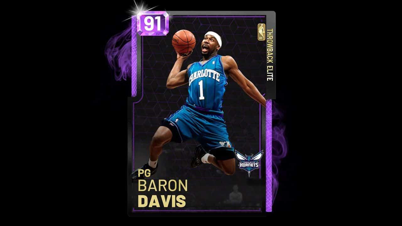 nba 2k19 baron davis amethyst card